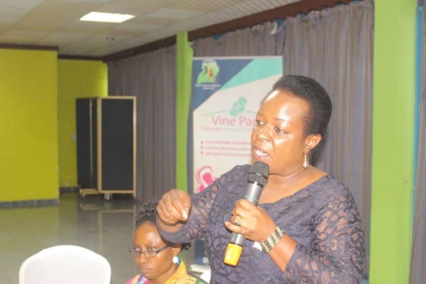 Hon. Dorah Byamukama sharing comments and recommendations during the EALA orientation meeting